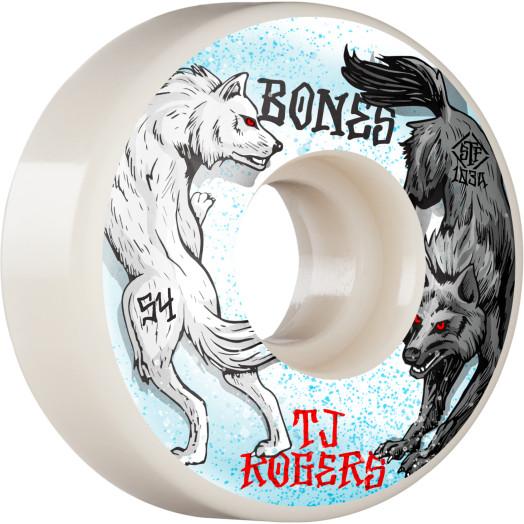 BONES WHEELS PRO STF Skateboard Wheels Rogers Arctic Battle 54mm V3 Slims 103A 4pk