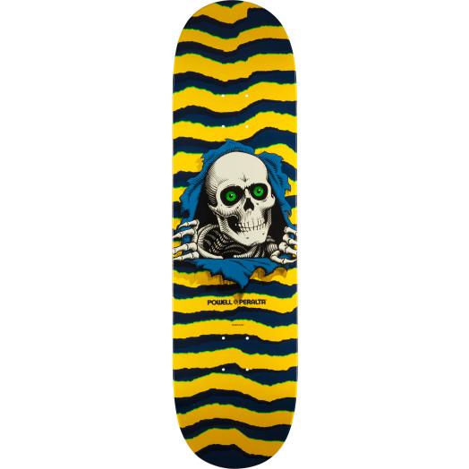 Powell Peralta Ripper Skateboard Blem Deck Yellow - Shape 244 - 8.5 x 32.08