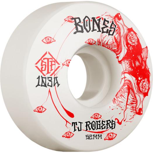 BONES WHEELS PRO STF Skateboard Wheels Rogers Spirit Wolf 52mm V3 Slims 103A 4pk