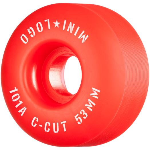 "Mini Logo Skateboard Wheels C-cut ""2"" 53mm 101A Red 4pk"