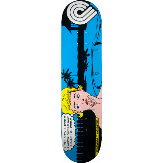 Powell Peralta Pop Art Skateboard Deck Blue - 8 x 32.125
