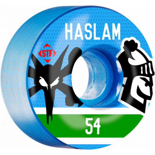 BONES WHEELS STF Haslam Pastime 54mm wheels 4pk Blue