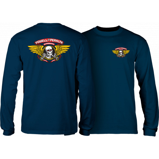 Powell Peralta Winged Ripper L/S Shirt Navy