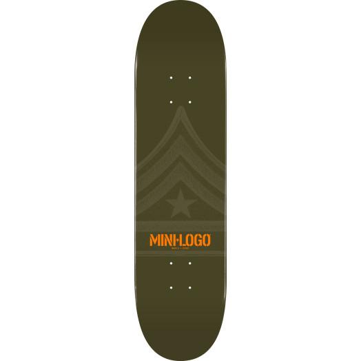 Mini Logo Quartermaster Skateboard Deck 191 Green - 7.5 x 28.65