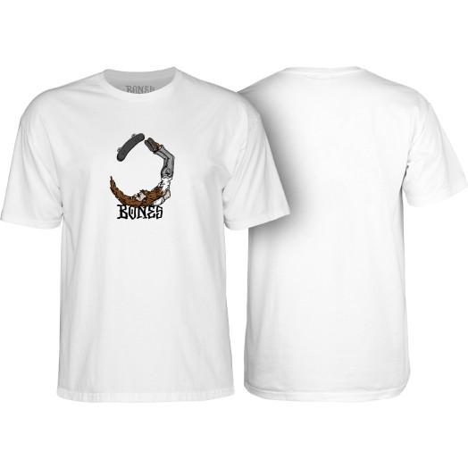 BONES WHEELS T-shirt Hipster White