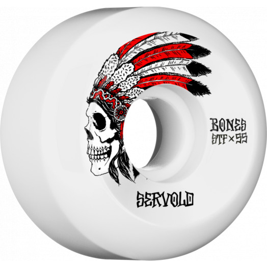 BONES WHEELS STF Pro Servold Spirit Skateboard Wheels V5 Sidecut 55mm 103A 4pk