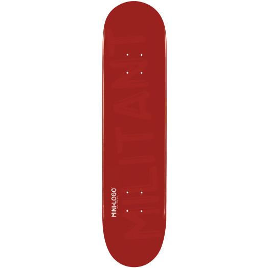 Mini Logo Militant Skateboard Deck 188 Maroon - 7.88 x 31.67