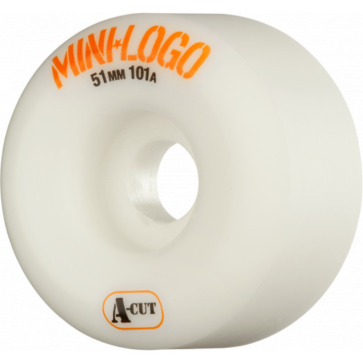 Mini Logo Skateboard Wheels A-cut 51mm 101A White 4pk