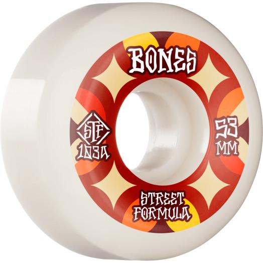 BONES WHEELS STF Skateboard Wheels Retros 53mm V5 Sidecut 103A 4pk