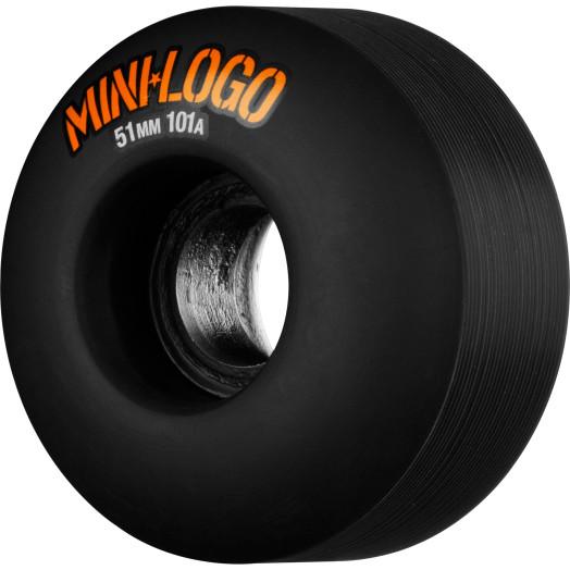 Mini Logo Wheel C-cut 51mm 101A Black 4pk
