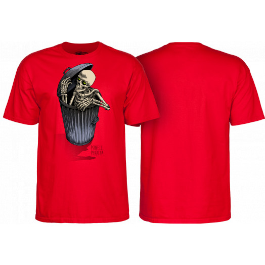 Powell Peralta Garbage Skelly T-shirt Red