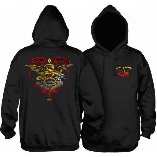 Powell Peralta Banner Dragon Hooded Sweatshirt Black