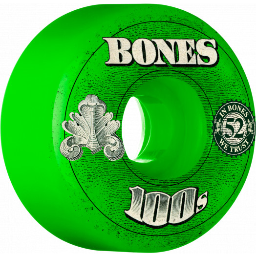 BONES WHEELS 100 Slims 53mm - Green (4 pack)