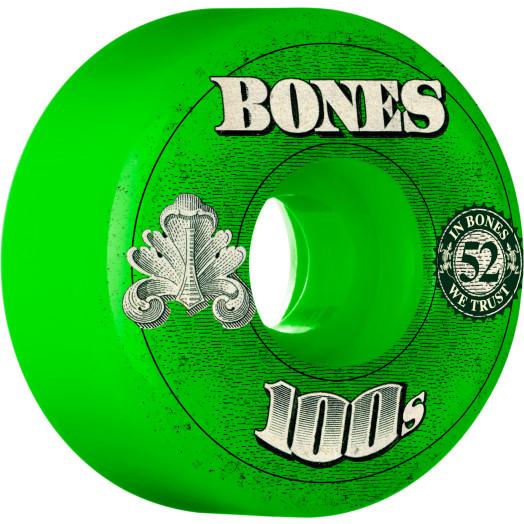 BONES WHEELS 100 Slims 53mm - Green (4 pack)
