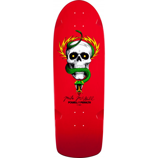 Bones Brigade® Mike McGill Skull & Snake Reissue Skateboard Deck Red - 10 x 30.125