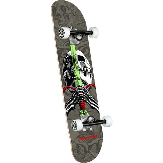 Powell Peralta Skull & Sword Gray Birch Complete Skateboard - 7.5 x 28.65