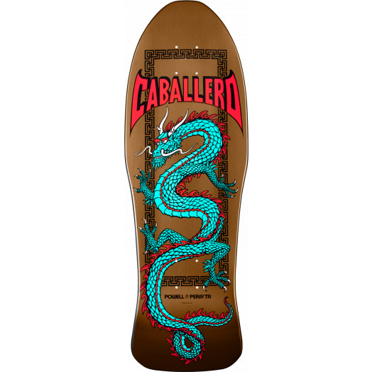 Powell Peralta Caballero Chinese Dragon Deck Copper Blem - 10 x 30