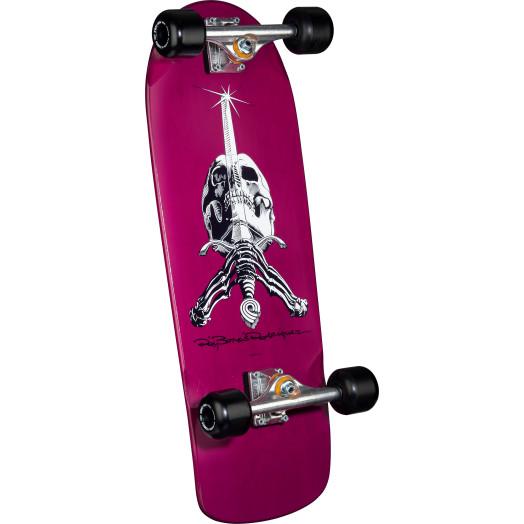 Powell Peralta Rodriguez OG Skull And Sword Custom Complete Skateboard Purple - 10 x 28.25