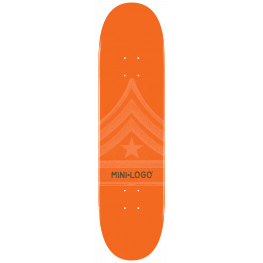 Mini Logo Quartermaster Skateboard Deck 126 Orange - 7.625 x 31.625