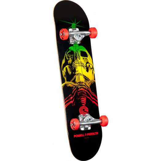 Powell Peralta Skull & Sword Complete Skateboard Red - 7.5 x 31.375