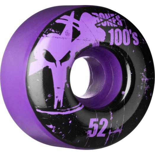 BONES WHEELS 100 Slims 52mm - Purple (4 pack)