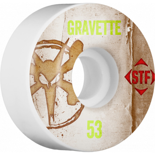 BONES WHEELS STF Pro Gravette Team Vintage Wheel 53mm 4pk
