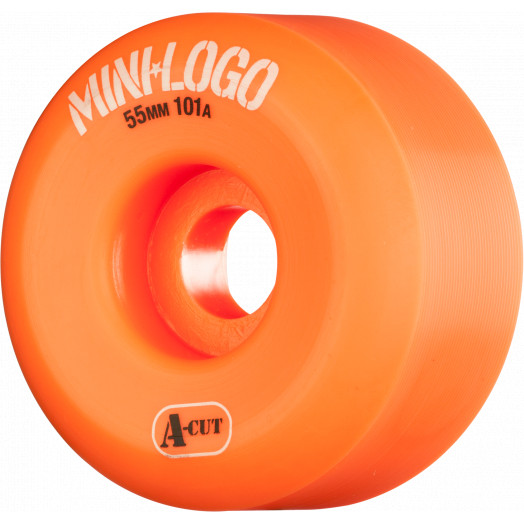 Mini Logo Skateboard Wheels A-cut 55mm 101A Orange 4pk