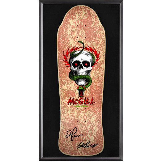 Bones Brigade® Shadowbox McGill Blem Skateboard Deck Natural - Signed by George/Stacy