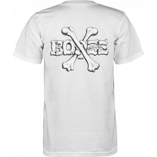 Powell Peralta Cross Bones T-shirt - White