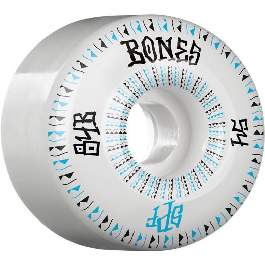 BONES WHEELS SPF Linears Skateboard Wheels 84B 54mm 4pk White P2 Fatties