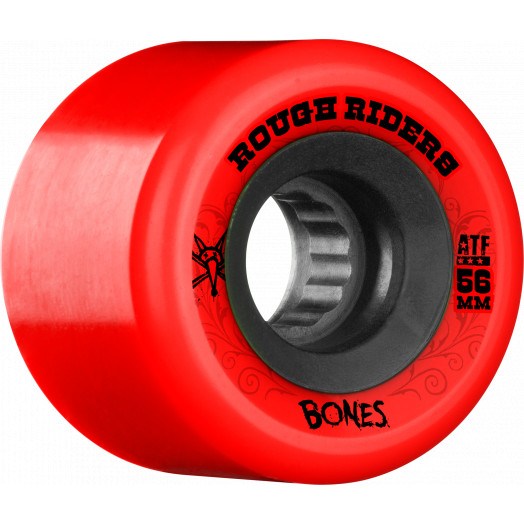 BONES WHEELS Rough Riders 56mm Red Wheel 4pk
