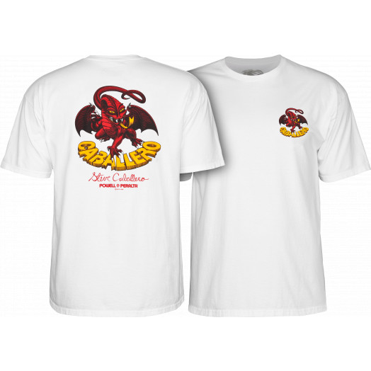 Powell Peralta Steve Caballero Dragon II T-shirt - White