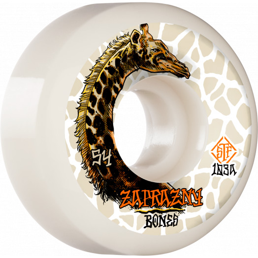 BONES WHEELS PRO STF Skateboard Wheels Zaprazny Giraffe II 54mm V5 Sidecut 103a 4pk