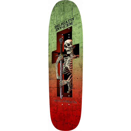 Powell Peralta Funshape Diligatis 3 Skateboard Deck Green/Red - 8.4 X 31.5