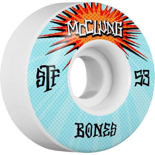 BONES WHEELS STF Pro McClung Blast Skateboard Wheels V1 53mm 103A 4pk
