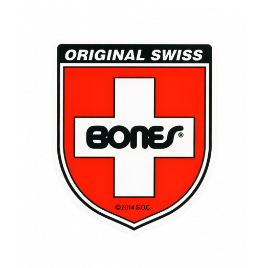 Bones Swiss Bearing Shield Sticker Small 20pk