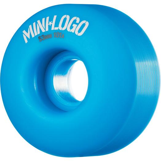 Mini Logo Wheel C-cut 53mm 101A Blue 4pk
