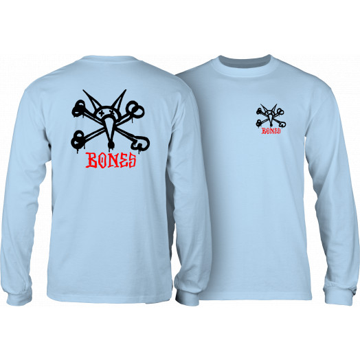 Powell Peralta Rat Bones L/S T-shirt Powder Blue