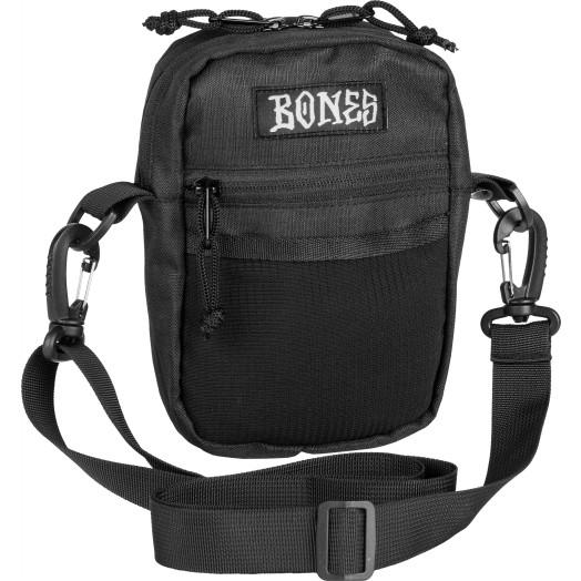 """BONES WHEELS Shoulder Bag Black 6"""" x 5"""""""