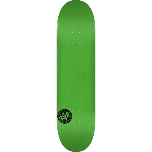 "MINI LOGO CHEVRON STAMP ""12"" SKATEBOARD DECK 124 GREEN - 7.5 X 31.375"
