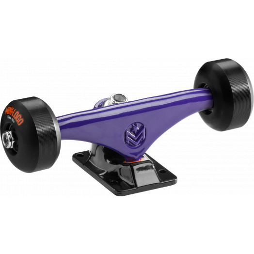 "Mini Logo Truck Assembly - 7.63"" Split Purple/Black - ML Bearings - 53mm 90a Black Wheels"