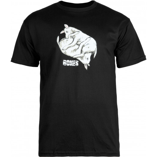 BONES WHEELS T-shirt Lambchop Black
