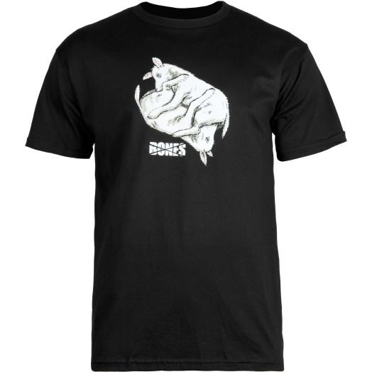 BONES WHEELS T-shirt Lambchop Black