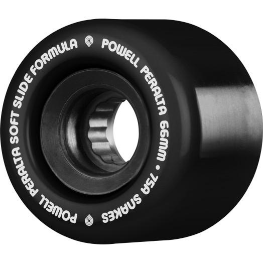 Powell Peralta Snakes Skateboard Wheels 66mm 75A 4pk Black
