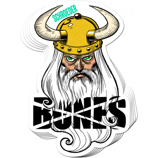 BONES WHEELS Ben Schroeder Viking STicker 20pk