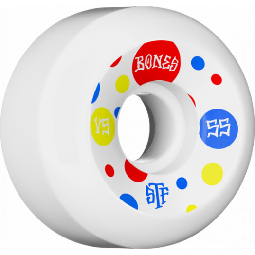 BONES WHEELS STF Dots Skateboard Wheel V5 55mm 103A 4pk