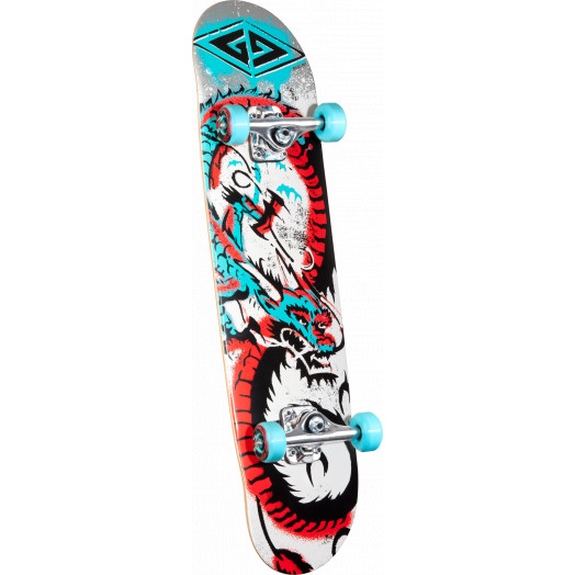 Powell Golden Dragon Loop Dragon 2 Complete Skateboard - 7.75 x 31.75