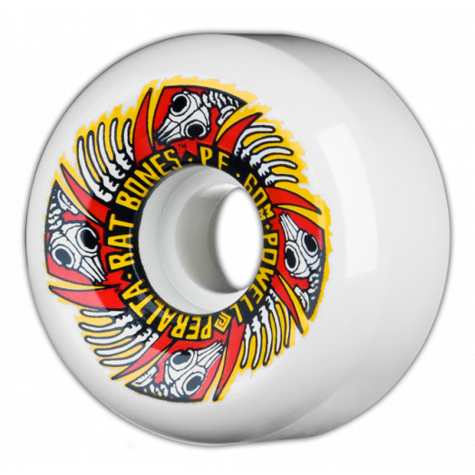 Powell Peralta Rat Bones II 60mm PF - White (4 pack)