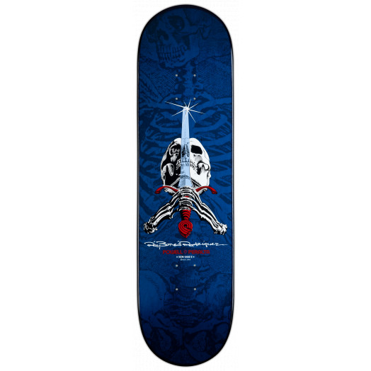 Powell Peralta Ray Rodriguez Skull & Sword Deck Navy - 8.75 x 33.25