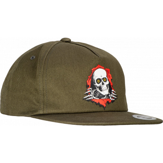 "Powell Peralta Ripper ""2"" Snap Back Cap - Military Green"